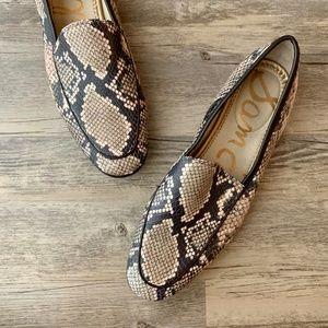 Sam Edelman Leon Snakeskin Print Leather Loafer